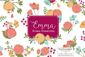 Bohemian Flowers Clipart & Vectors