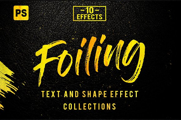 10 Foiling Photshop Layer Styles