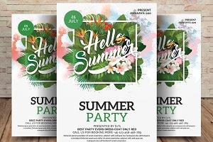 Summer Party Flyer Hello! Summer