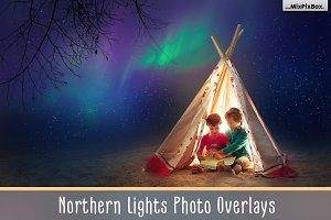 Northern Lights Photo Overlays