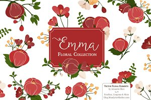 Christmas Flowers Clipart & Vectors