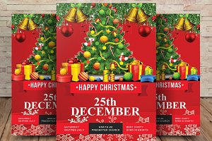 Happy Merry Christmas Party Flyer