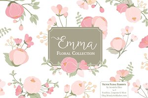 Soft Pink Flower Clipart & Vectors