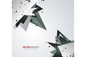 Vector geometric background with