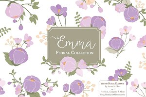 Lavender Flower Clipart & Vectors