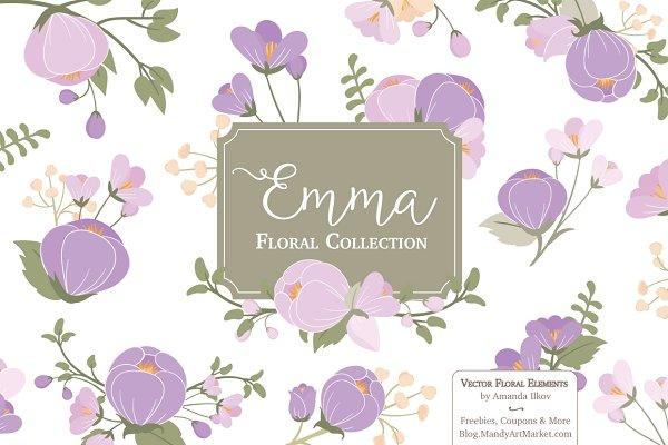 Lavender Flower Clipart & Vectors
