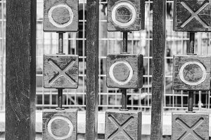 Tic-Tac-Toe in Black and White
