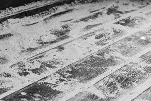 Sand in a Wood Floor in Black White