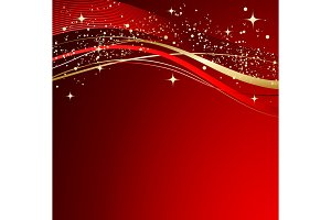 Red christmas abstract background.