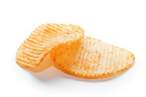 Two spiced potato chips