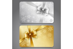 Collection of gift cards with