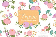 Garden Party Floral Vector Clipart