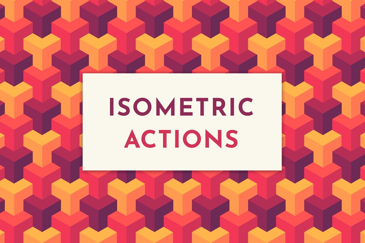 Isometric Actions, Patterns & Grid ~ Illustrator Add-Ons