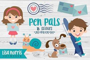 Pen Pals Clip Art Graphics & SVGs