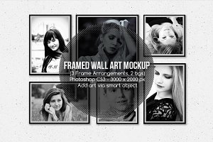 Framed Wall Art Mockup v1