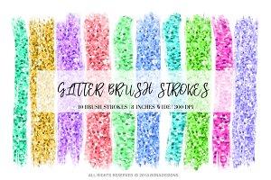 Glitter Brush Strokes Clipart