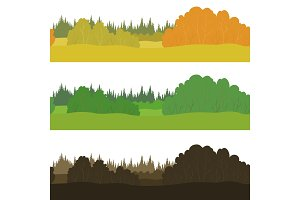 Set seamless landscapes, forest