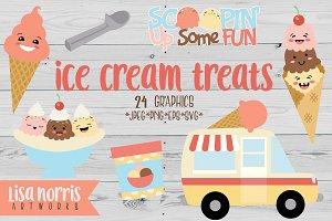 Ice Cream Treats Clip Art & SVGs