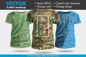 Vector T-shirt Mockup Template