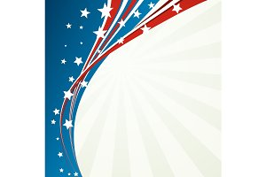 American Flag, Vector patriotic