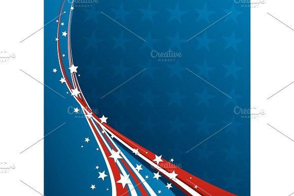 American Flag, Vector patriotic