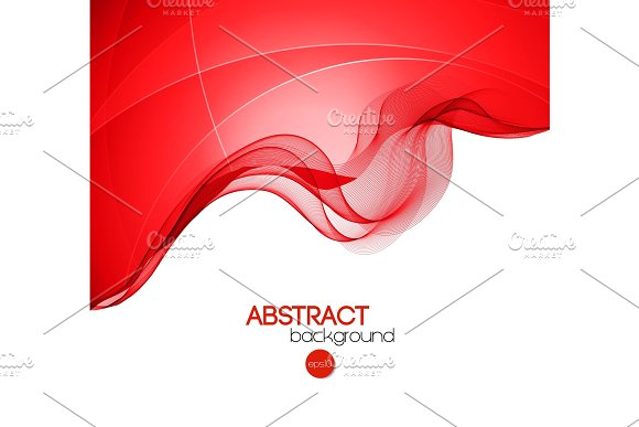 Abstract curved lines background in Illustrations
