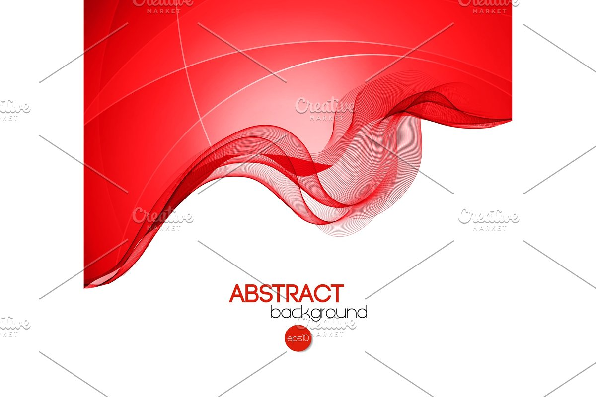 Abstract curved lines background in Illustrations - product preview 8