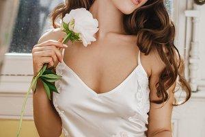 Adorable young bride