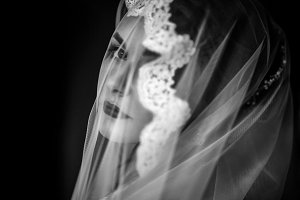 Mysterious portrait of a bride
