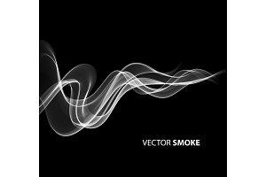Vector realistic smoke on black