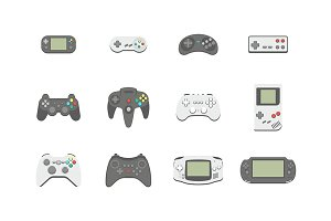 Video Games Joystick icons set