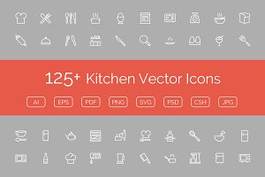 125+ Kitchen Vector Icons