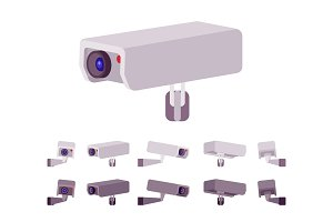CCTV camera set