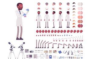 Male scientist creation set