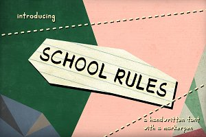 School Rules - a handwritten font