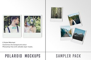 Polaroid Mockup Sampler Pack
