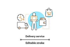 Delivery service concept icon