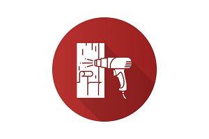 Hot air gun heating surface icon