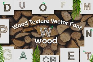 26 vector letters wood texture pack