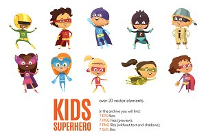 Kids Superhero Set