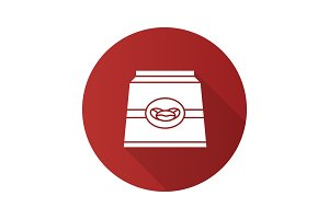 Coffee paper package icon