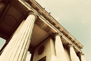 Brandenburg Gate in Berlin. Vintage
