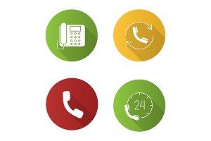 Phone communication icons set