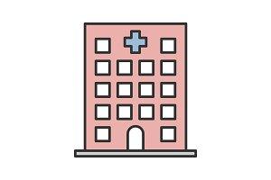 Hospital color icon