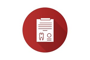 Teeth diagnostic report icon