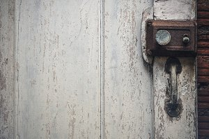 Old rusty door lock
