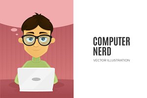 Computer Nerd - Male Character