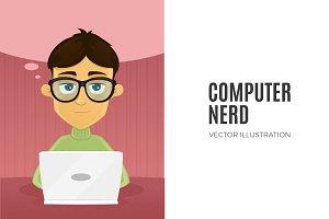 Computer Nerd - Male Character