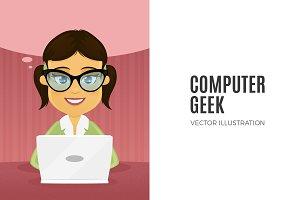 Computer Nerd - Female Character
