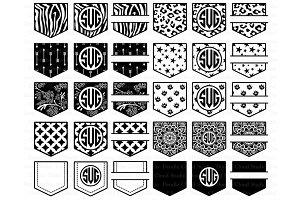 Pocket Patterns Monogram SVG Files.